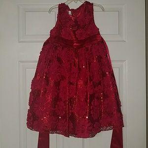 Size 6 red formal little girl's dress